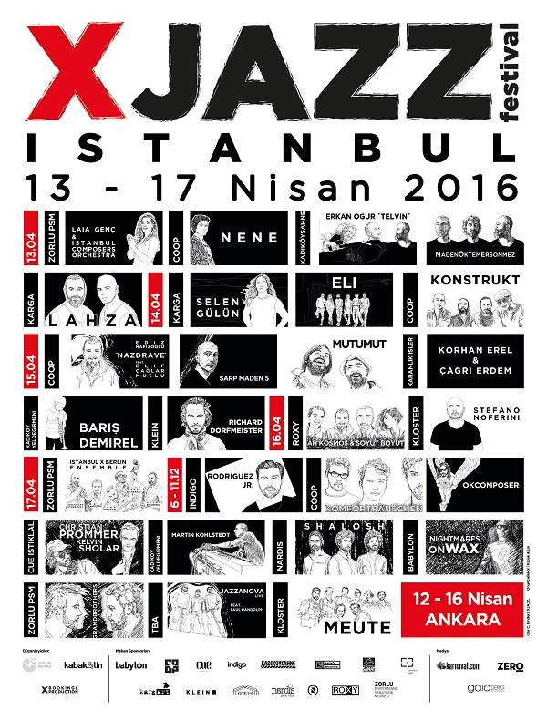 XJAZZ Istanbul Poster